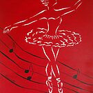 Ballerina in Red by Allegretto