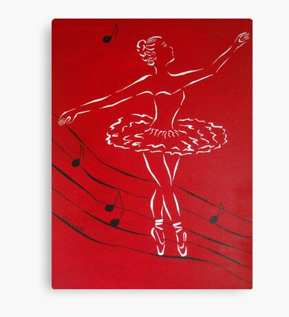 Ballerina in Red Canvas Print