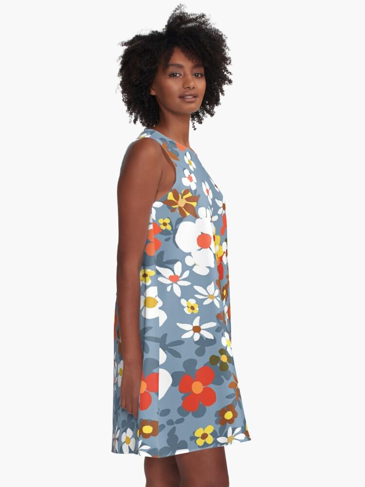 Alternate view of New Floral Light Blue A-Line Dress