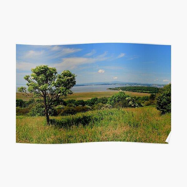 Grange-over-sands from Warton Ridge Poster