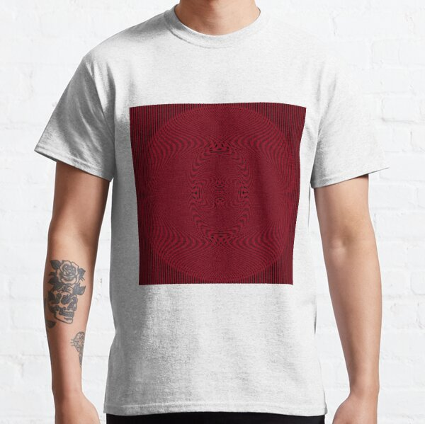 #Pattern, #abstract, #design, #illustration, geometry, illusion, intricacy, art Classic T-Shirt