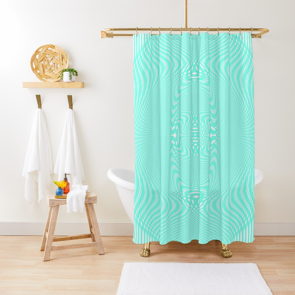 #Pattern, #abstract, #design, #illustration, geometry, illusion, intricacy, art Shower Curtain