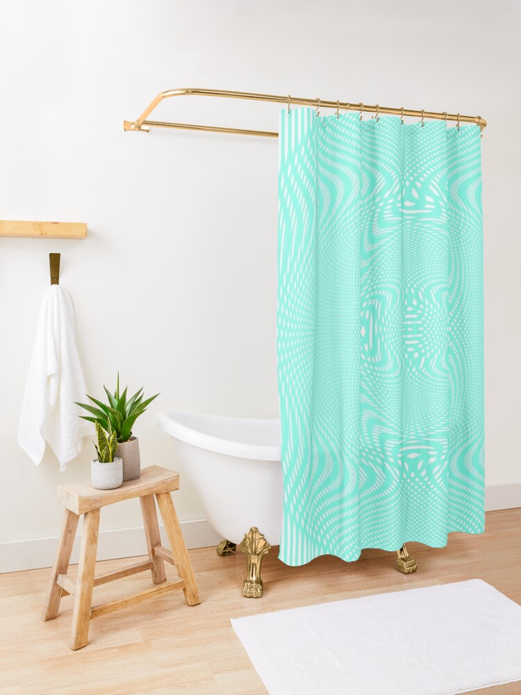 Alternate view of #Pattern, #abstract, #design, #illustration, geometry, illusion, intricacy, art Shower Curtain