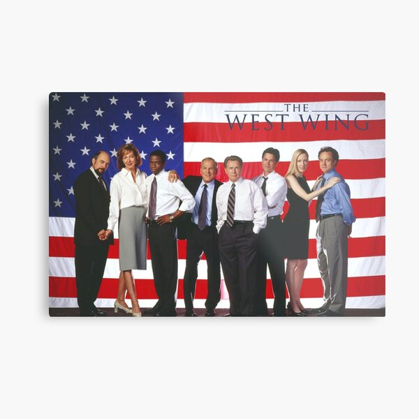 West Wing American Flag Metal Print