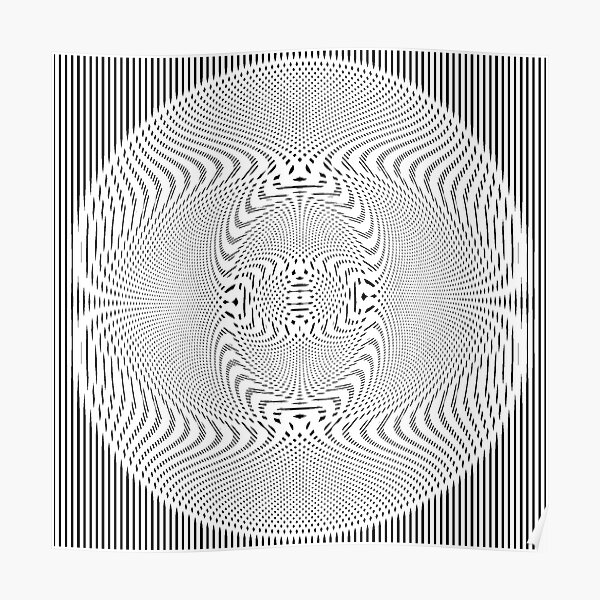 #Pattern, #abstract, #design, #illustration, geometry, illusion, intricacy, art Poster