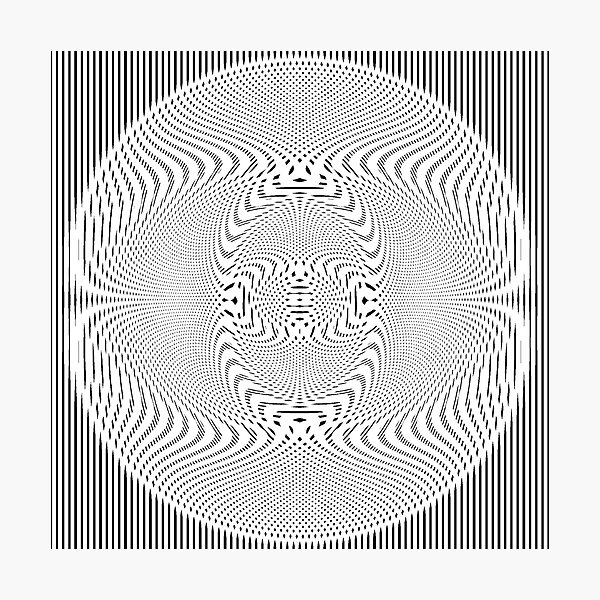 #Pattern, #abstract, #design, #illustration, geometry, illusion, intricacy, art Photographic Print