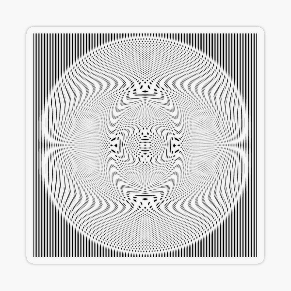 #Pattern, #abstract, #design, #illustration, geometry, illusion, intricacy, art Transparent Sticker
