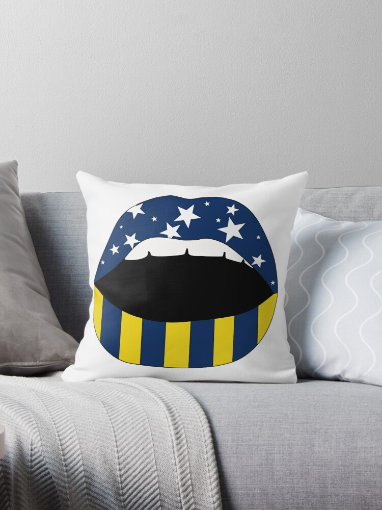 University Of Michigan Mouth Throw Pillow By Savmedley Redbubble