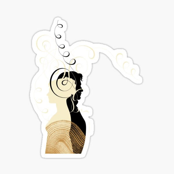 Pride and Prejudice by Balbusso Twins Sticker