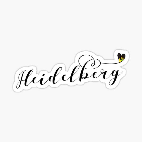 Heidelberg Flag Heart, Baden-Württemberg Sticker