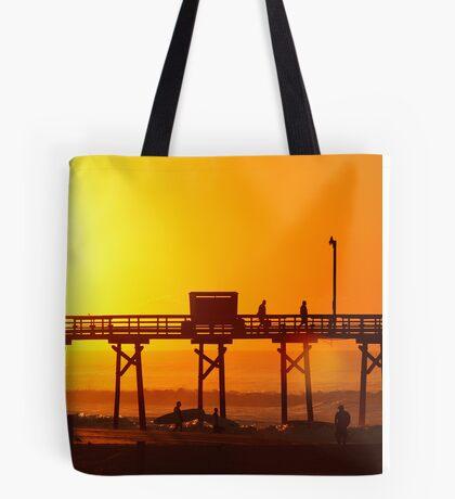 Surfs Up Sunrise Tote Bag