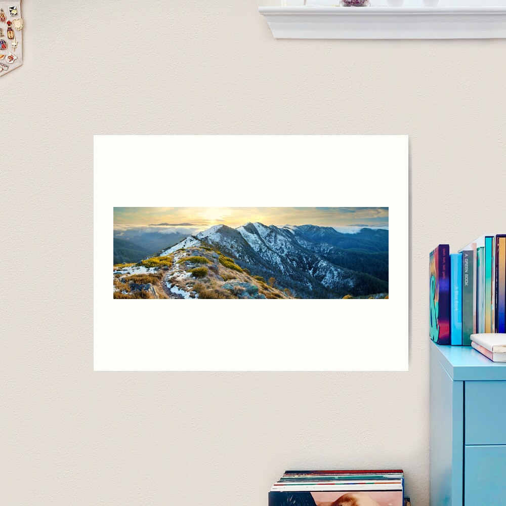 Cross Cut Saw, Mt Howitt, Alpine National Park, Victoria, Australia Art Print