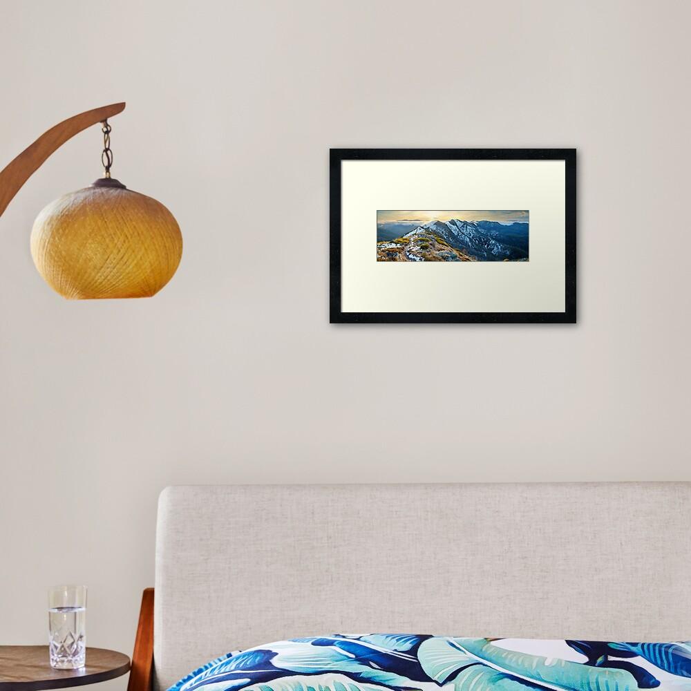 Cross Cut Saw, Mt Howitt, Alpine National Park, Victoria, Australia Framed Art Print