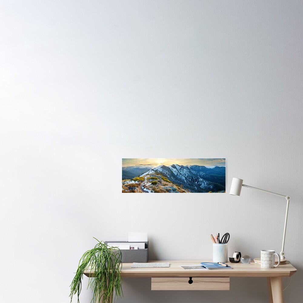Cross Cut Saw, Mt Howitt, Alpine National Park, Victoria, Australia Poster