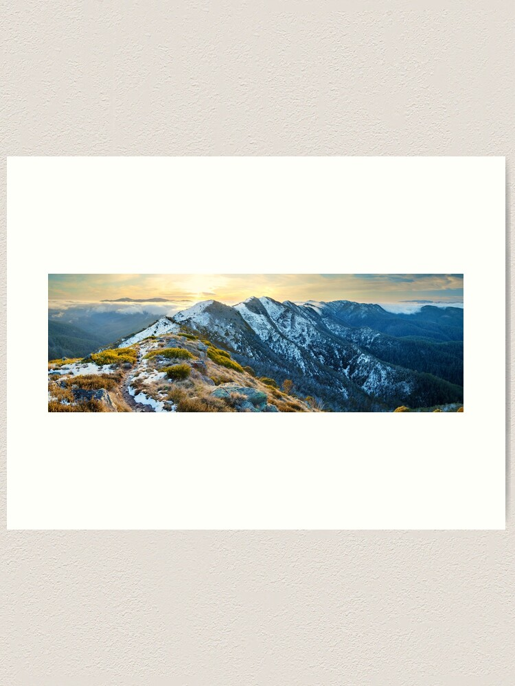 Alternate view of Cross Cut Saw, Mt Howitt, Alpine National Park, Victoria, Australia Art Print
