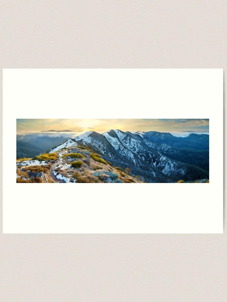 Alternate view of Cross Cut Saw, Mt Howitt, Alpine National Park, Victoria, Australia Art Print