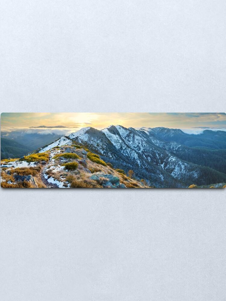 Alternate view of Cross Cut Saw, Mt Howitt, Alpine National Park, Victoria, Australia Metal Print