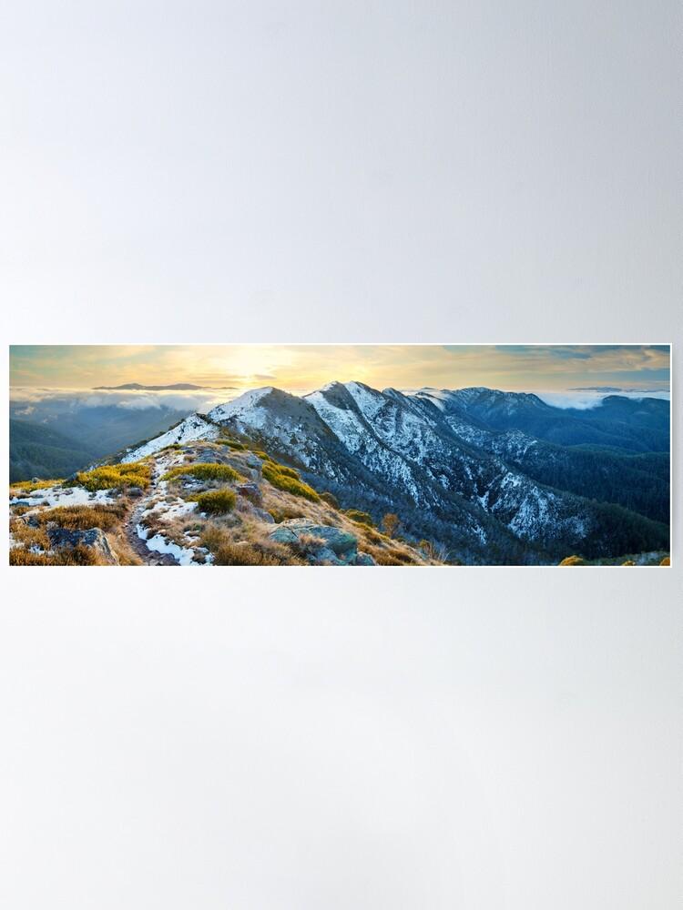 Alternate view of Cross Cut Saw, Mt Howitt, Alpine National Park, Victoria, Australia Poster