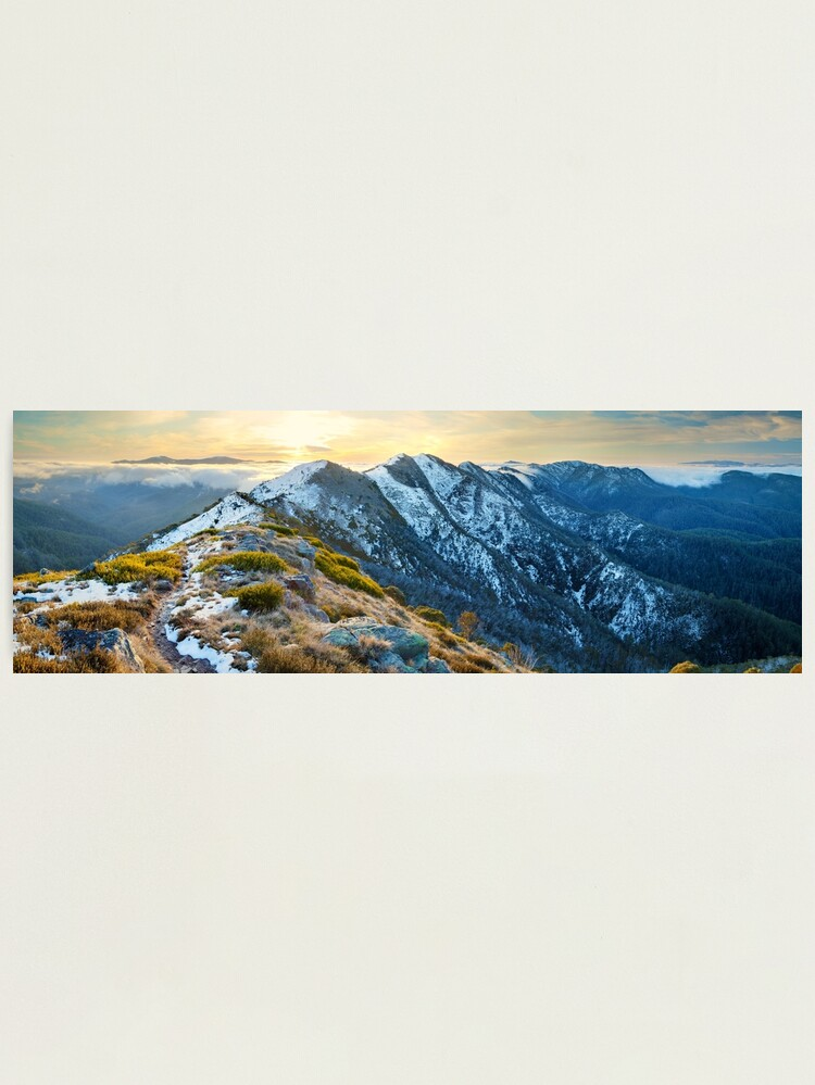 Alternate view of Cross Cut Saw, Mt Howitt, Alpine National Park, Victoria, Australia Photographic Print