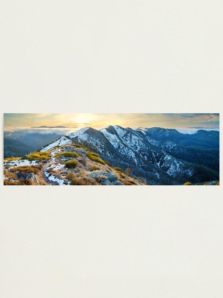 Alternate view of Cross Cut Saw, Mt Howitt, Alpine National Park, Victoria, Australia Photographic Print