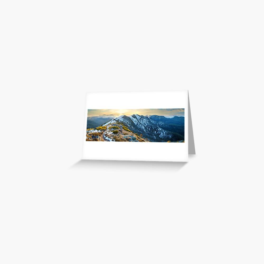 Cross Cut Saw, Mt Howitt, Alpine National Park, Victoria, Australia Greeting Card
