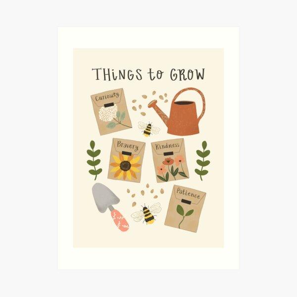 Things to Grow - Garden Seeds Art Print