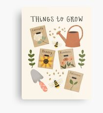 Things to Grow - Garden Seeds Metal Print