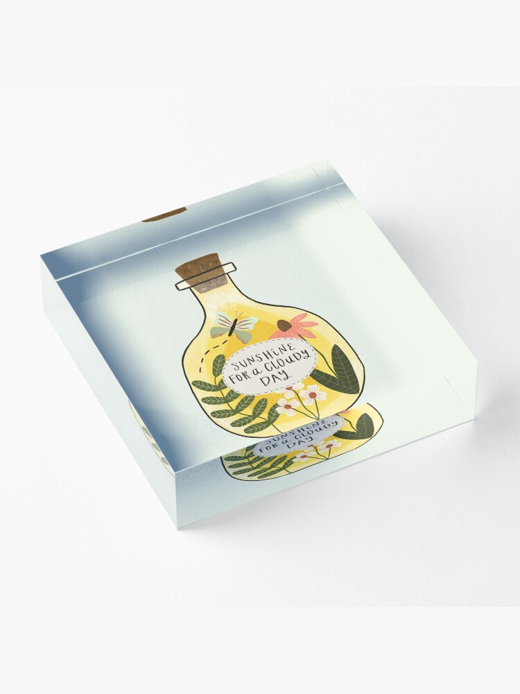 Alternate view of Bottle of Sunshine for Cloudy Days Acrylic Block