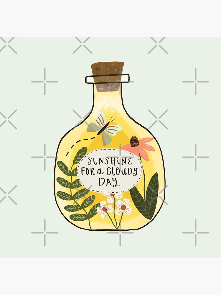 Bottle of Sunshine for Cloudy Days by ohjessmarie