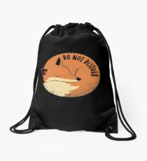 Do Not Disturb Drawstring Bag