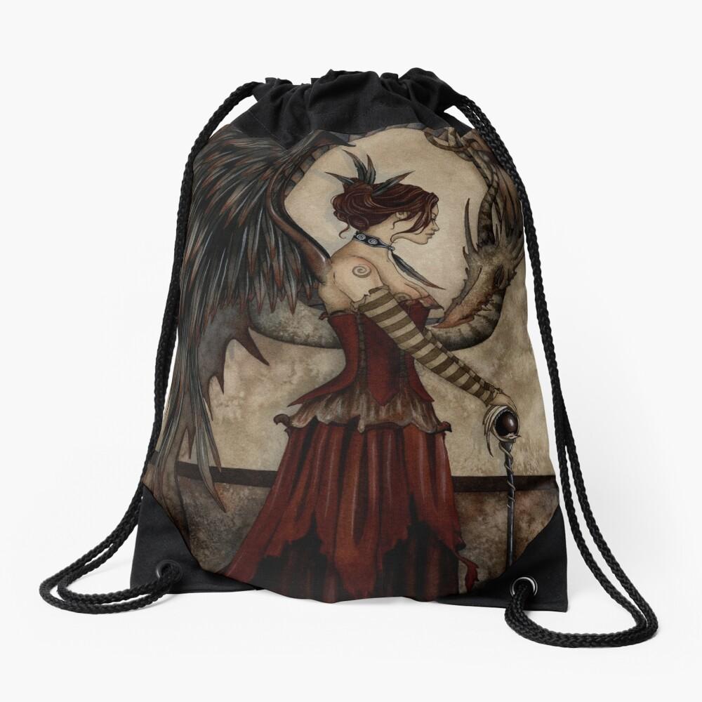 Court Of The Dragon Drawstring Bag