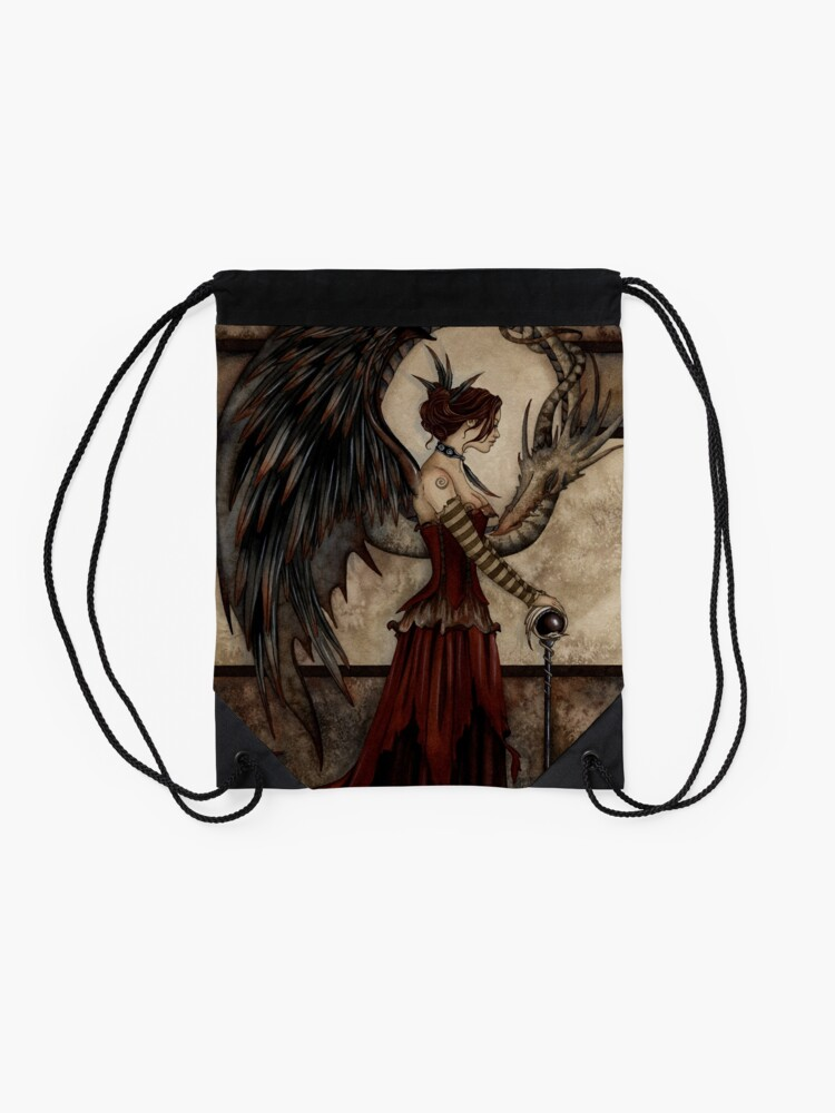 Alternate view of Court Of The Dragon Drawstring Bag