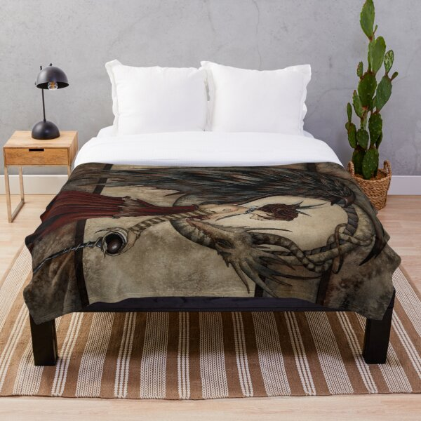 Court Of The Dragon Throw Blanket