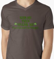 "Funny St Patrick's Day ""Kiss Me Then Spank Me - I'm Irish & I'm Naughty"" T-Shirt"