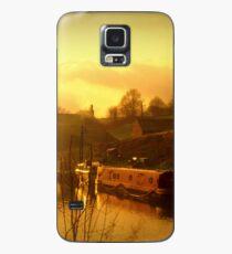 Sonnenuntergang Kanal Hülle & Klebefolie für Samsung Galaxy