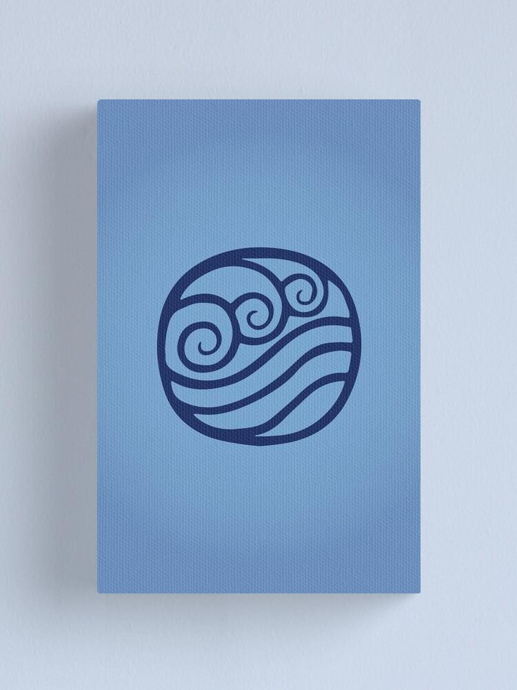 Alternate view of Waterbending Logo Canvas Print