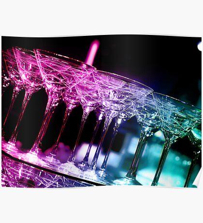 more fancy martini glasses Poster
