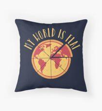My World Is Flat Floor Pillow