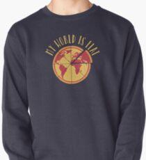 My World Is Flat Pullover Sweatshirt