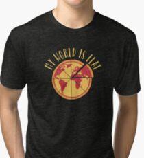 My World Is Flat Tri-blend T-Shirt