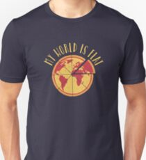 My World Is Flat Slim Fit T-Shirt