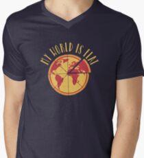 My World Is Flat V-Neck T-Shirt