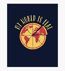My World Is Flat Photographic Print