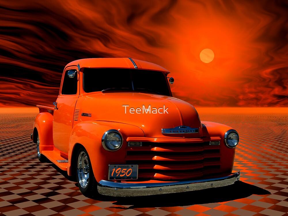 "1950 Chevrolet Pickup Truck ""Orange Juice"" by TeeMack"