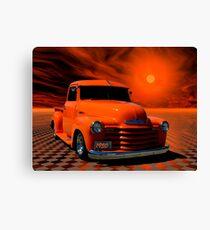 "1950 Chevrolet Pickup Truck ""Orange Juice"" Canvas Print"