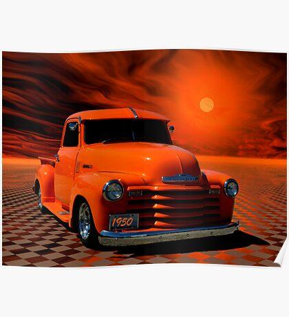 "1950 Chevrolet Pickup Truck ""Orange Juice"" Poster"