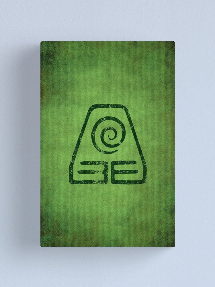 Alternate view of Earthbending Logo · Distressed Canvas Print