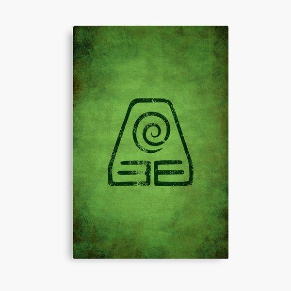 Earthbending Logo · Distressed Canvas Print