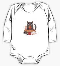 Indoor Cat Long Sleeve Baby One-Piece