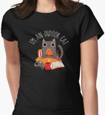 Indoor Cat Fitted T-Shirt